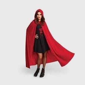 Red Velvet Cloak Cape Halloween Costume